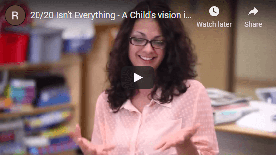 A Child's vision is critical to learning