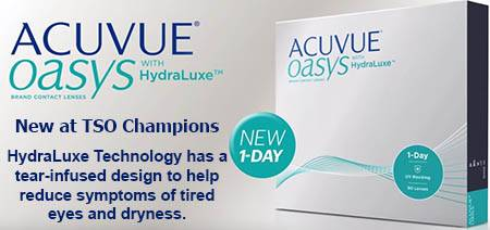 Acuvue Oasys Daily Contact Lenses with Hydraluxe Technology at TSO Champions