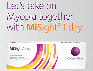 myopia control contact lenses misight