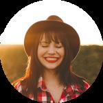 smile girl cowboy hat