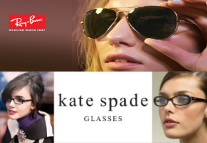 ray ban and kate spade eye wear