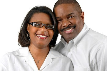 african american couple, wearing eyeglasses in Wilmington