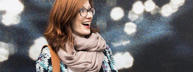 Eye doctor, woman wearing progressive lenses in Alpha, NJ