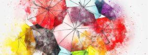 reinbow umbrellas