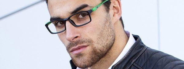 Eye doctor, man wearing Don Uno eyeglasses in Milton, ON