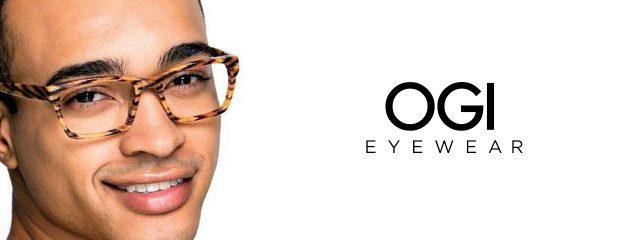 Eye doctor, man wearing OGI eyeglasses in Milton, ON