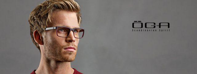 Eye doctor, man wearing OGA eyeglasses in Milton, ON