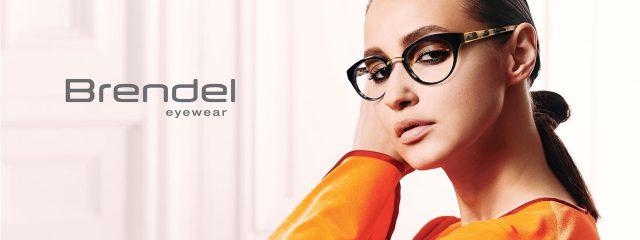 Eye doctor, woman wearing Brendel eyeglasses in Milton, ON