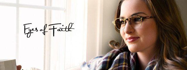 Eye doctor, woman wearing Eyes Of Faith eyeglasses in Milton, ON