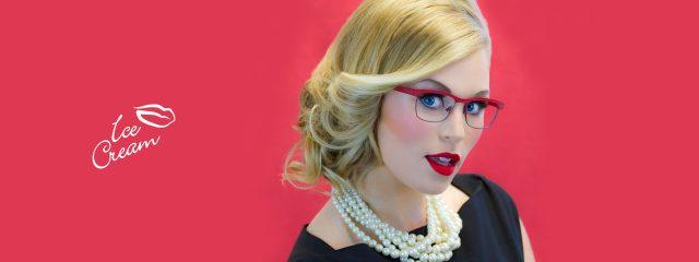 Eye doctor, woman wearing Ice Cream eyeglasses in Milton, ON