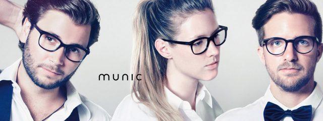 Eye doctor, people wearing Munic eyeglasses in Milton, ON