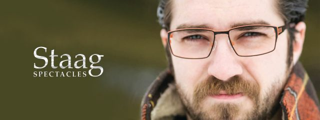 Eye doctor, man wearing Staag eyeglasses in Milton, ON