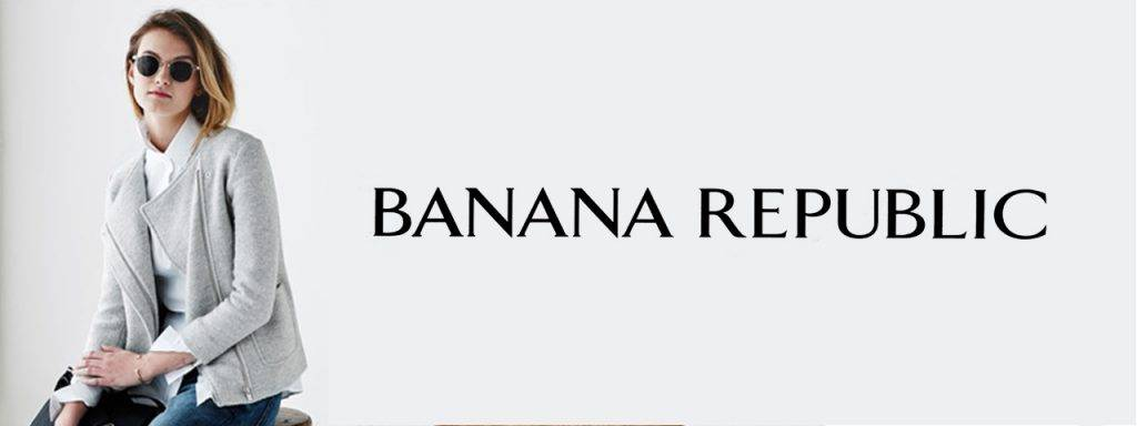 Banana Republic ad with blonde wearing sunglasses 1280x480