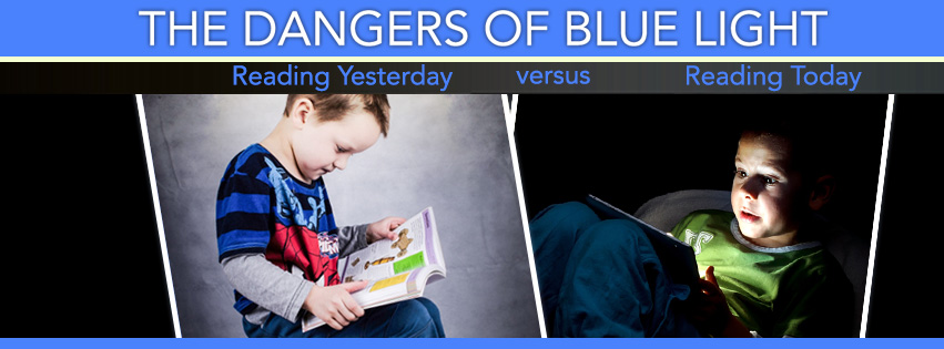 bluelight dangers, reading in the past and present