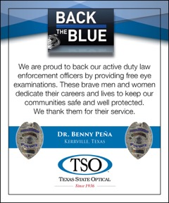 TSO Kerrville supports our law enforcement and Back the Blue