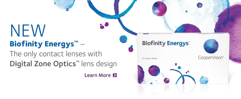 Biofinity Energys are the only contact lenses with Digital Zone Optics™ lens design. Available at Wylie Vision Care in Wylie, TX. Call Us at 972-442-2020