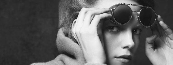 Eye doctor, woman wearing Matsuda sunglasses in Seattle, WA