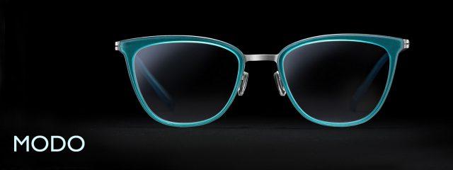 Eye doctor, pair of Modo eyeglasses in Seattle, WA