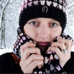 Woman Winter Snowy Trees 1280×853