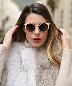 Model wearing WooW Sunglasses