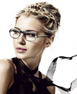 Model wearing ProDesign Eyeglasses