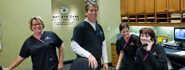 Staff at First Eye Care in Dallas, Texas