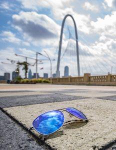 Sunglasses and Dallas Arch