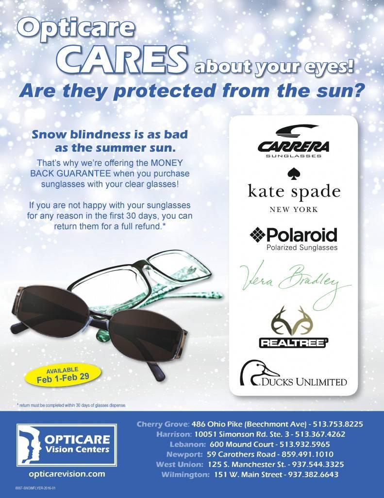 Opticare - Flyer - Snow Blind Sunglass