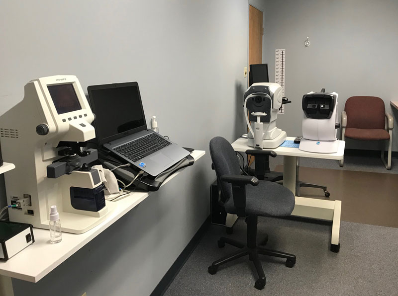 Exam room at Opticare Vision Center Milford