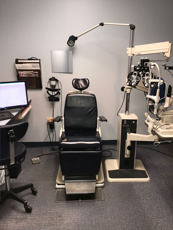 Eye Exam Room at Opticare Vision Center Milford