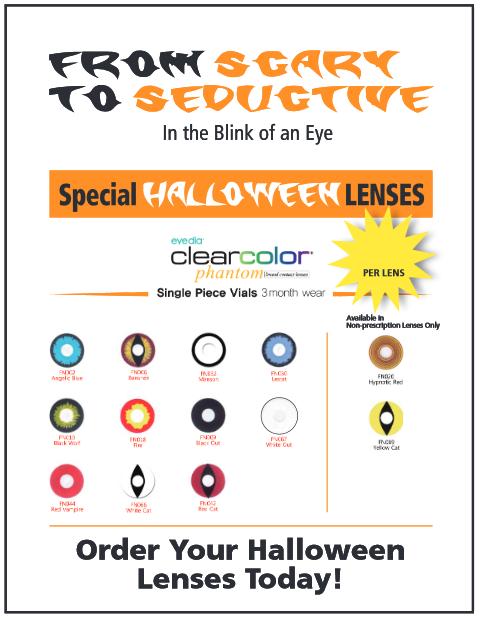 Decorative Contact Lenses in San Antonio available at Stone Oak TSO