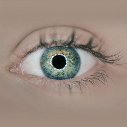Eye exam, Close-up of woman's blue eye in Round Rock, TX