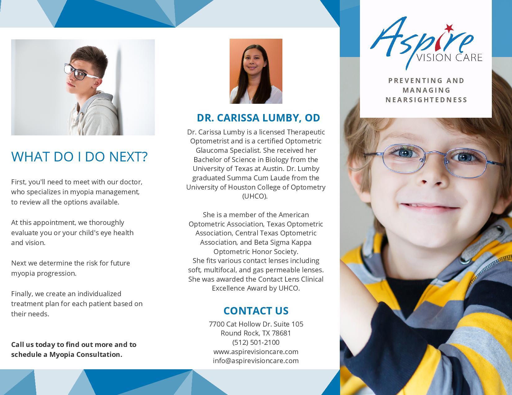 Myopia Management Brochure Page 2- PDF Download