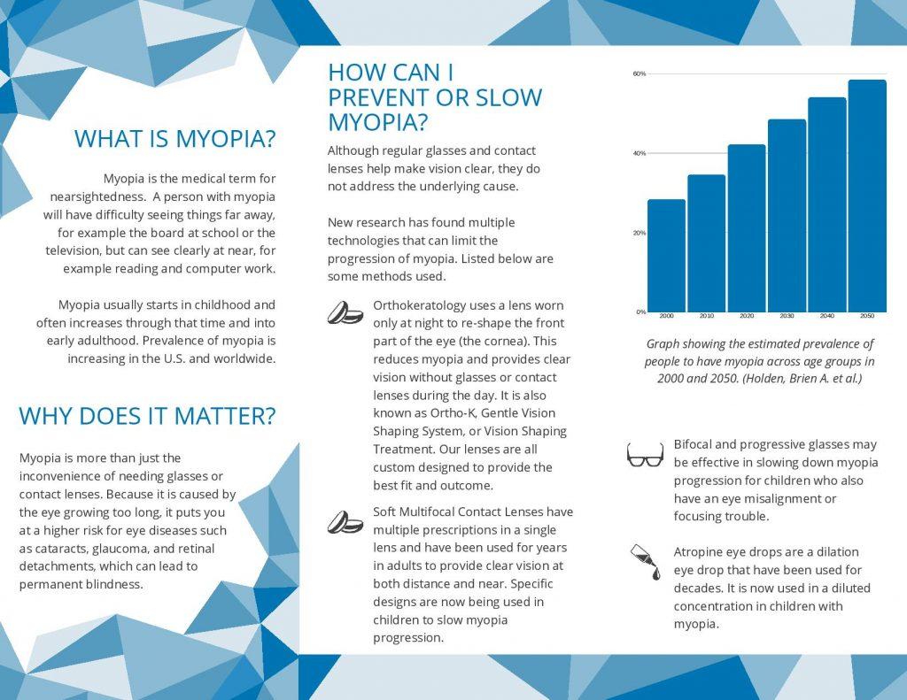 Myopia Management Brochure Page 1- PDF Download
