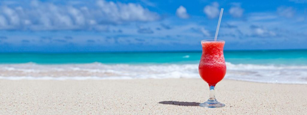 red smoothie on the beach near Round Rock, Texas