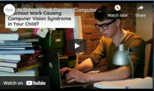 Video School work and computer vision syndrome min