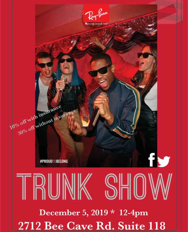 ray ban trunk show dec 5th