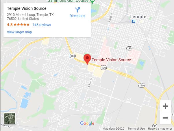 Temple Vision Source Google Maps