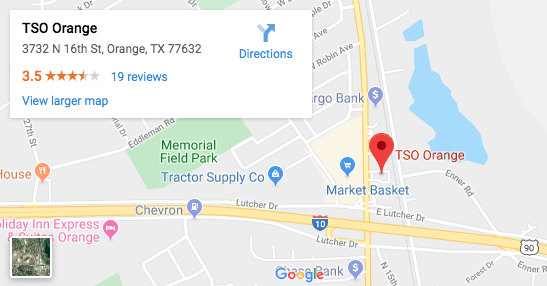 TSO Orange Eye Exams - Google Map