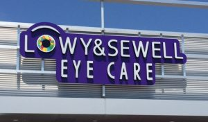 Sign for Concord and Thornhill Eye Doctors Low & Sewell