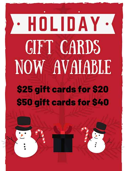 Gift Cards now Avaiable