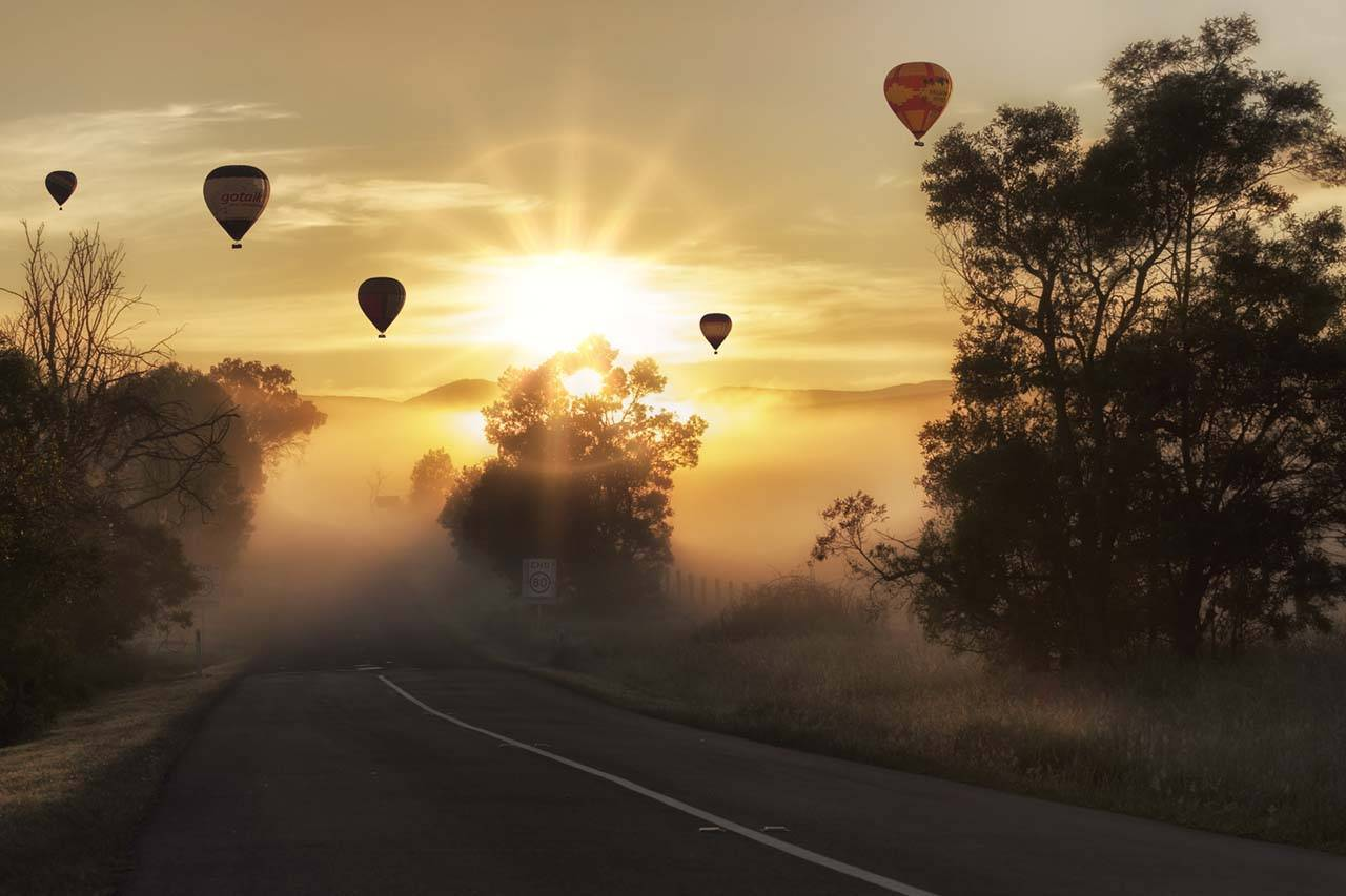 Hot-Air-Balloons-Sunrise-Trees-1280x853