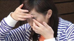 Woman Putting On Contact Lenses, Optometrist, Irving, TX