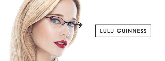 Optometrist, woman wearing Lulu Guinness eyeglasses in Irving, TX