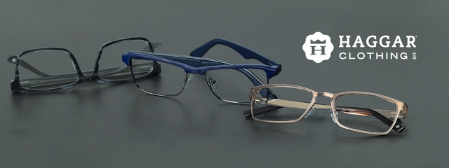 Optometrist, pair of Haggar eyeglasses in Irving, TX