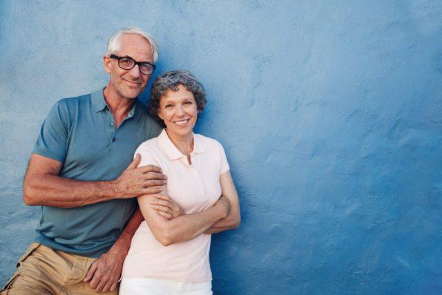 Eye doctor, happy senior couple in Grand Prairie, TX