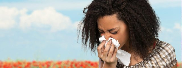 Eye doctor, woman sneezing from dry eye or allergies in Winter Park, FL