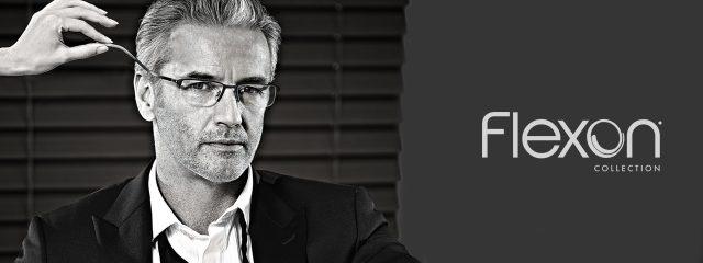Eye doctor, man wearing Flexon eyeglasses in Freelton, ON