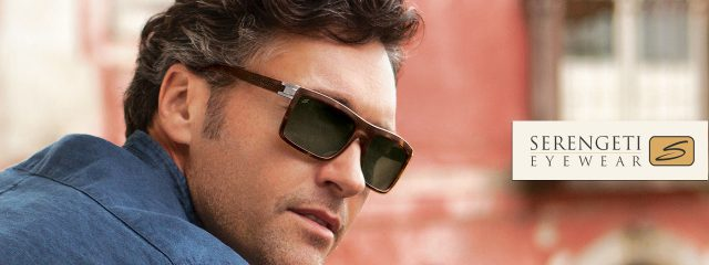 Eye doctor, man wearing Serengeti sunglasses in Freelton, ON