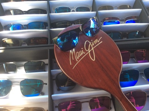 Maui Jim Sunglasses display from trunk show in Freelton, ON